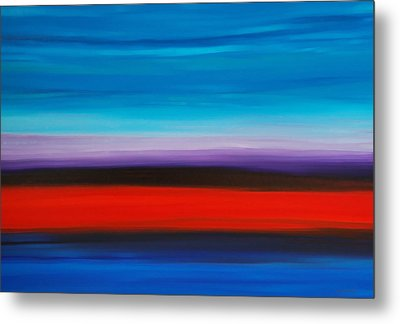 Colorful Shore - Abstract Art By Sharon Cummings Metal Print by Sharon Cummings