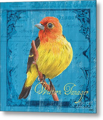 Colorful Songbirds 4 Metal Print by Debbie DeWitt