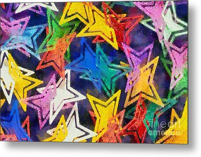 Colorful Stars Metal Print by George Atsametakis
