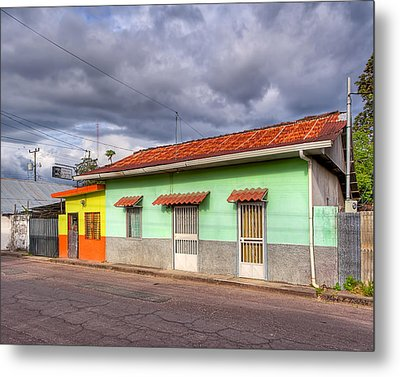 Colorful Streets Of Costa Rica - Liberia Metal Print by Mark E Tisdale