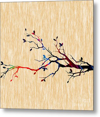 Colorful Tree Branch Metal Print by Marvin Blaine