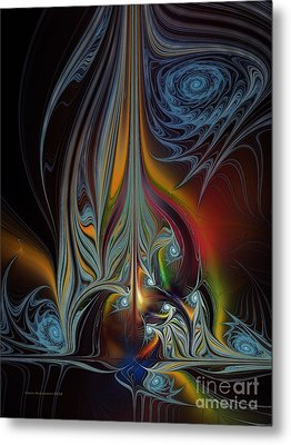 Colors In Motion-fractal Art Metal Print by Karin Kuhlmann