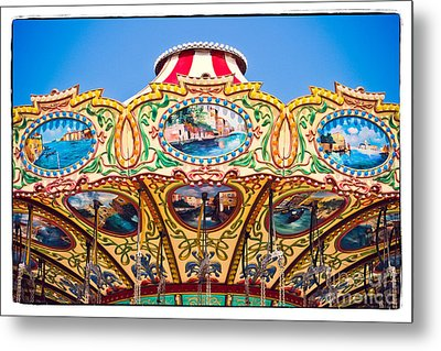 Colors Of A Carousel Metal Print by Colleen Kammerer
