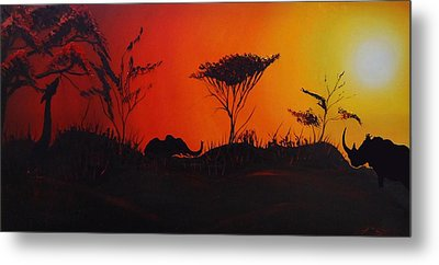 Colors Of Africa 45 Metal Print by Portland Art Creations