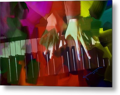 Colors Of Music Metal Print by Kume Bryant