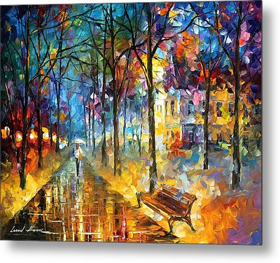 Colors Of My Past Metal Print by Leonid Afremov
