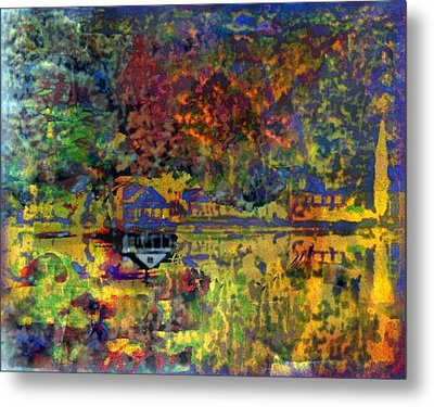 Colors On The Lake Metal Print by YoMamaBird Rhonda