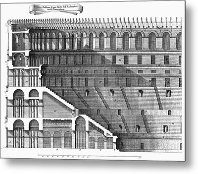 Colosseum: Cross-section Metal Print by Granger