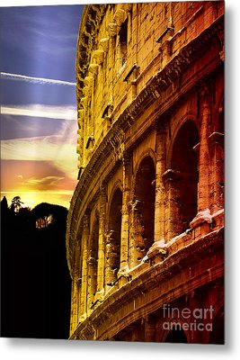 Colosseum Sunset Metal Print by Stefano Senise