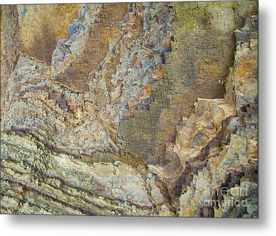 Colour Jagged Rock Metal Print by Graham Foulkes