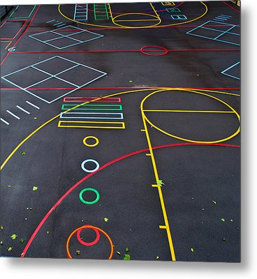 Colourful School Playground Metal Print by Georgina Noronha