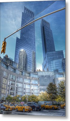 New York - Columbus Circle - Time Warner Center Metal Print by Marianna Mills