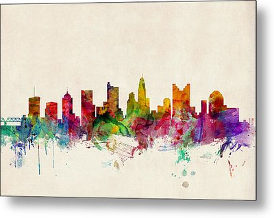 Columbus Ohio Skyline Metal Print by Michael Tompsett