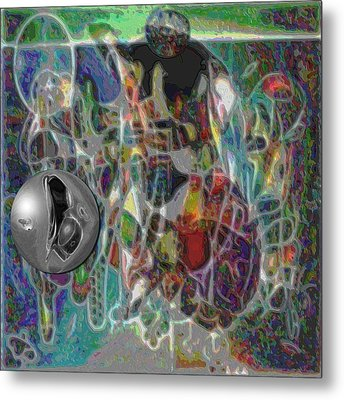Combination Based On Steppinwolf And Vision Pastel Paintings Metal Print by George Curington
