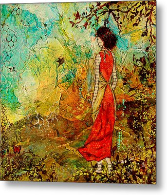Come Back Home To You Inspiring Folk Art Painting Metal Print by Janelle Nichol