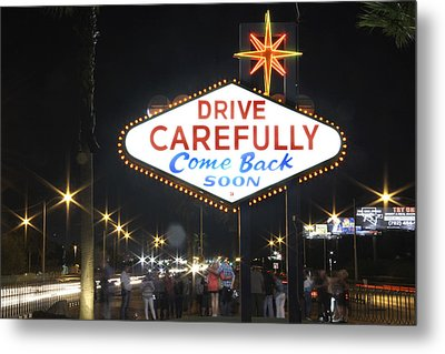 Come Back Soon Las Vegas  Metal Print by Mike McGlothlen