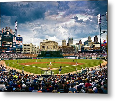 Comerica Park Metal Print by Cindy Lindow