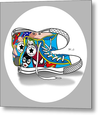 Comics Shoes 2 Metal Print by Mark Ashkenazi
