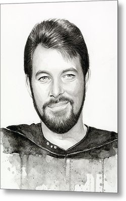 Commander William Riker Star Trek Metal Print by Olga Shvartsur