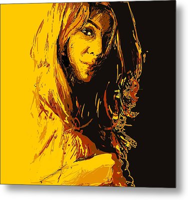 Commissioned Portraits Metal Print by Catf