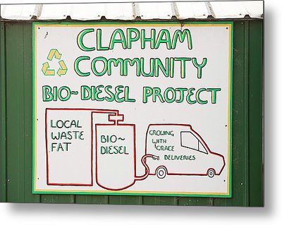 Community Biodiesel Project Metal Print by Ashley Cooper