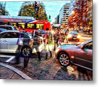 Commuter Ghosts At Rushour Metal Print by Jim Moore