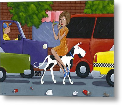 Commuting Metal Print by Christy Beckwith