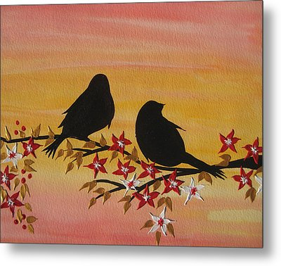 Companionship Metal Print by Cathy Jacobs