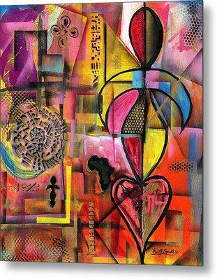 Compassionate Woman X2 Metal Print by Everett Spruill