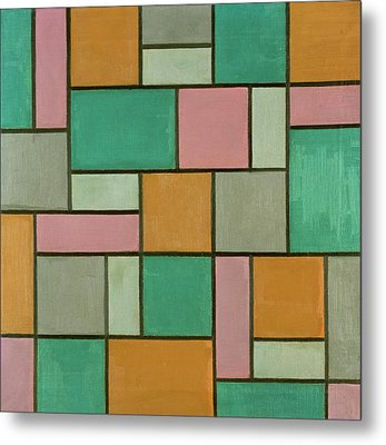 Composition Seventeen Metal Print by Theo van Doesburg