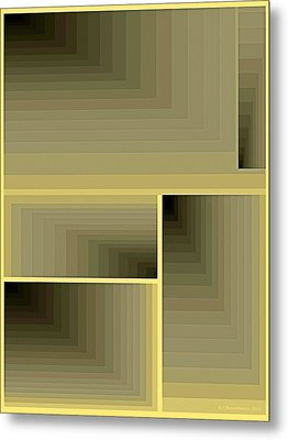 Composition 70 Metal Print by Terry Reynoldson