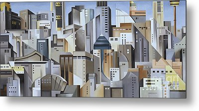 Composition Looking East Metal Print by Catherine Abel