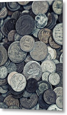 Composition With Old Rusty Coins Metal Print by Jaroslaw Blaminsky