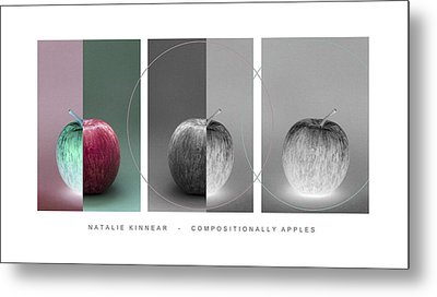Compositionally Apples Metal Print by Natalie Kinnear