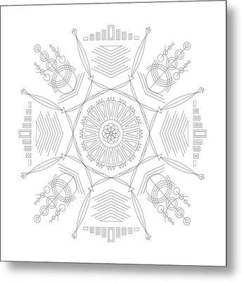 Compression Metal Print by DB Artist