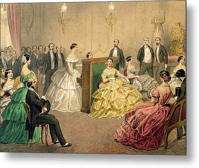 Concert At The Chausee D'antin Metal Print by Henri de Montaut