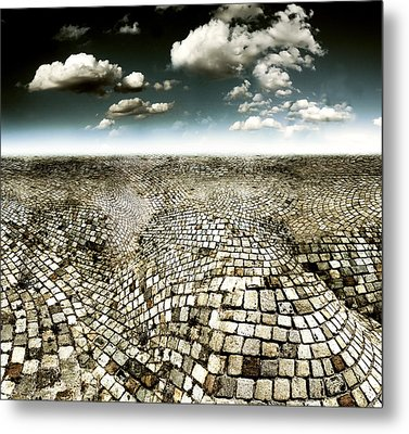 Concrete Mind Metal Print by Florin Birjoveanu