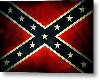 Confederate Flag Metal Print by Les Cunliffe