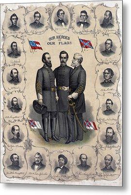 Confederate Leaders, C1896 Metal Print by Granger