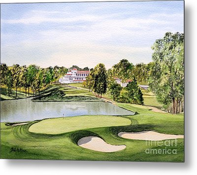 Congressional Golf Course 10th Hole Metal Print by Bill Holkham