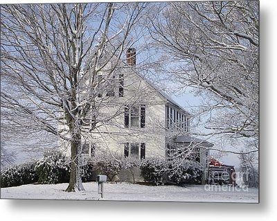 Connecticut Winter Metal Print by Michelle Welles