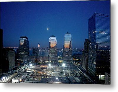 Construction At The Twin Towers Site Metal Print by Library Of Congress