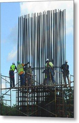 Construction4 Metal Print by Leon Hollins III
