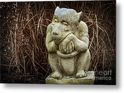 Contemplating Autumn Metal Print by Mary Machare