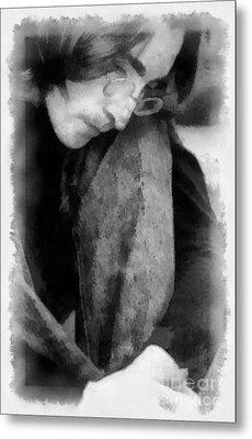 Contemplative John Metal Print by Paulette B Wright