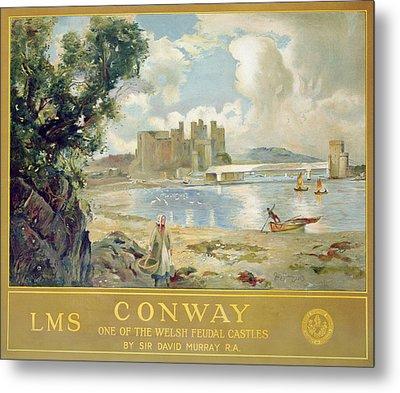 Conway Castle Metal Print by Sir David Murray