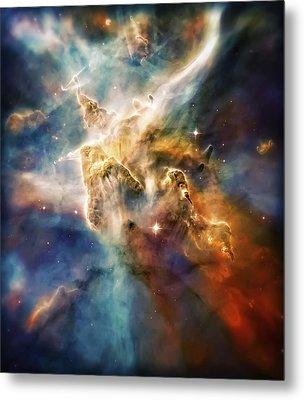 Cool Carina Nebula Pillar 4 Metal Print by The  Vault - Jennifer Rondinelli Reilly