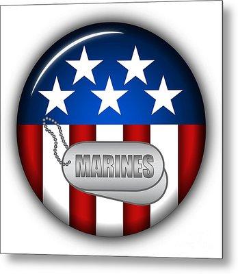 Cool Marines Insignia Metal Print by Pamela Johnson