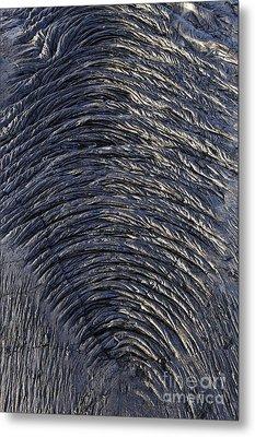 Cooled Pahoehoe Lava Wrinkles Metal Print by Sami Sarkis
