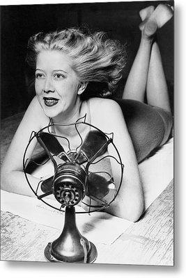 Cooling Fan For Hot Spell Metal Print by Joe Denarie